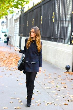 Celine boots - Isabel Marant boots - Zara dress