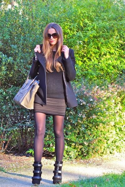 Isabel Marant boots - Celine bag - SANDRO skirt