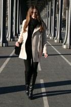 eggshell SANDRO coat - Zara boots