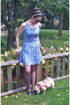 blue thrifted dress