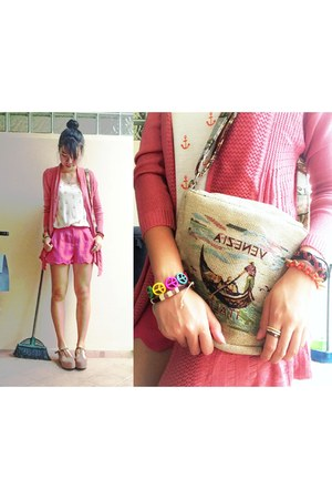 Hollyhoque bracelet - Beadstreet bracelet - hot pink bangkok shorts