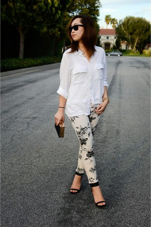 J Brand jeans - cotton on shirt - Zara heels
