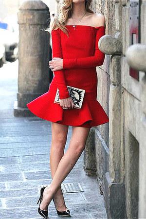 dress - simple stiletto heels