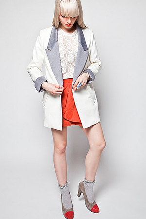 contrast collar White Crow online blazer - wrap skorts White Crow online shorts
