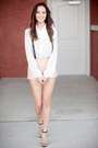 Untied-bow-jason-wu-for-target-blouse-leather-f21-shorts-zara-heels