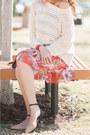 Light-pink-zara-flats-carrot-orange-asos-dress-ivory-f21-jumper