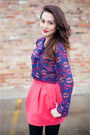Blue-kisses-f21-blouse-black-dolce-vita-boots-hot-pink-zara-skirt