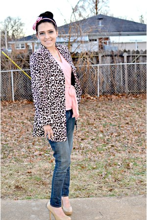 OASAP jacket - denizen jeans - Steve Madden pumps - ann taylor blouse