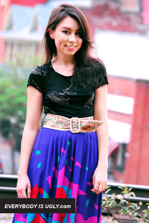 vintage skirt - vintage blouse - vintage belt