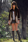 Dark-brown-moccasins-vintage-shoes-dark-brown-suede-vintage-jacket