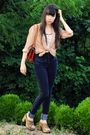 Pink-vintage-blouse-black-pants-brown-vintage-candies-shoes-white-ralph-la