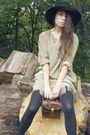 Beige-vintage-dress-black-house-of-holland-henry-holland-tights-white-vintag