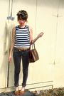 Black-vintage-top-gray-pants-brown-vintage-belt-brown-vintage-shoes-brow