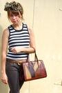 Black-vintage-top-gray-pants-brown-vintage-belt-brown-vintage-shoes-brow