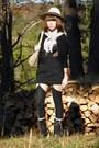 Black-vintage-top-black-skirt-black-socks-dark-khaki-vintage-bag-periwin