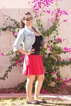blue Heritage 1981 jacket - black Forever 21 top - pink Forever 21 skirt - black