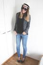 Sky-blue-h-m-jeans-borsalino-hat-black-sugarlips-jacket