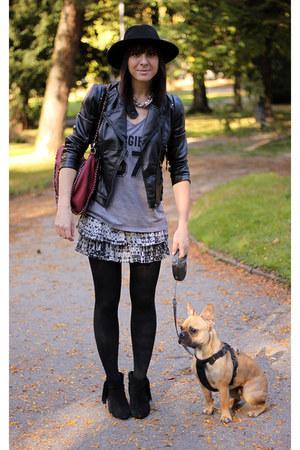 heather gray H&M skirt