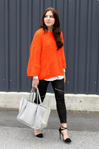 carrot orange Zara sweater