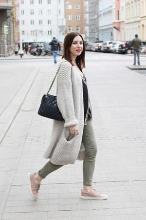 ivory H&M cardigan