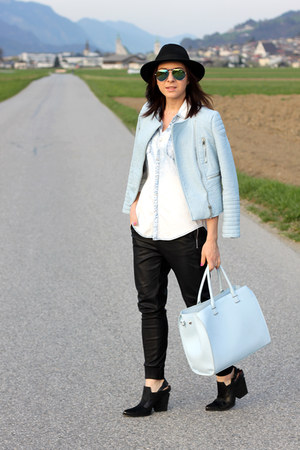 light blue Zara jacket
