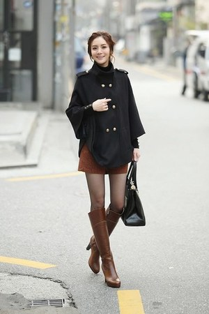 black fashion chic special stylish vogue coat