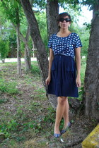 thrifted dress - Urban Outfitters top - Mossimo flats