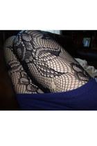 black floral fishnet Nordstrom tights