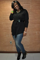black east 5th top - blue Gap jeans - black Christian Siriano for Payless boots