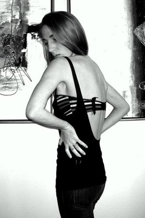 black sonia rykiel pour h&m bra - black Forrest & Bob top - blue Stella McCartne