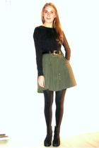 Home made skirt - Vila blouse - vintage belt - Secondhand