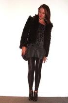 H&M jacket - Graham & Spencer dress - Samse&Samse leggings - Steve Madden boots