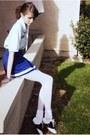 Saddle-shoes-shoes-off-white-socks-skirt-blue-skirt