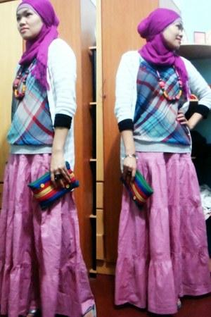 skirt - scarf
