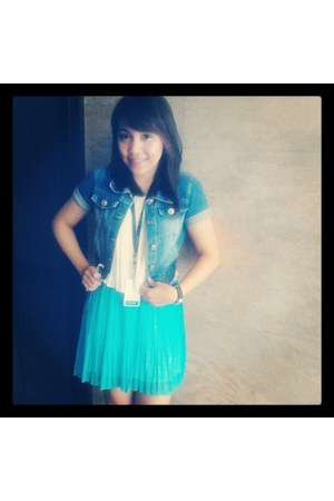 mini dress Petite Monde dress - denim Forever21 blazer