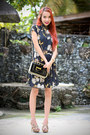 Navy-inlovewithfashion-dress-black-oasap-bag-tan-memorata-heels