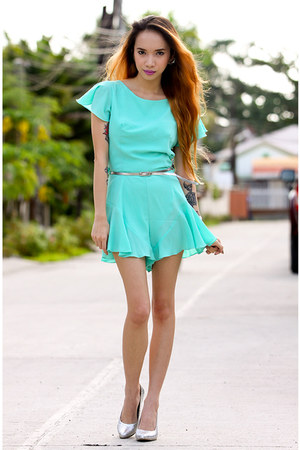 aquamarine romper inlovewithfashion dress