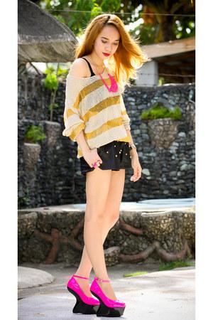 mustard stripe Choies sweater