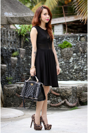 black mesh FEMMEX dress