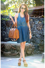 Navy-aupie-dress-burnt-orange-maxenes-closet-bag