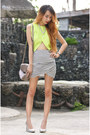Chartreuse-cutout-pinkaholic-top-off-white-tulip-zara-skirt
