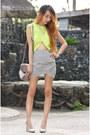 Chartreuse-cutout-pinkaholic-top-off-white-tulip-zara-skirt
