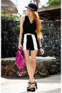 Magenta-candy-maxenes-bag-black-stripe-koogal-shorts