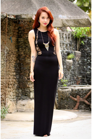 black lace inlovewithfashion dress