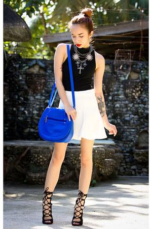 blue maxenes closet bag - dark gray rarelove necklace