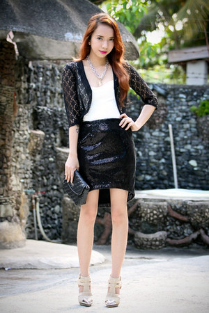 black Van Vogue skirt - silver libebi accessories