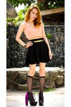 black circle skirt