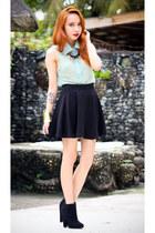 black pinkaholic skirt - black Topshop boots