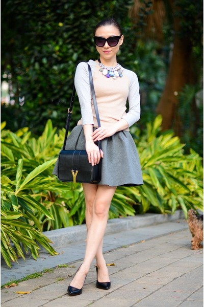 GoodNight Macaroon necklace - pumps Zara heels