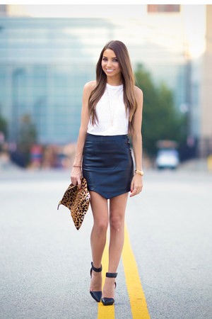 Forever 21 skirt - Target top - Jeffrey Campbell heels